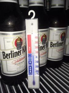 Dem Bier ist etwas kalt: 7 °C tun's auch. (c) clubliebe e.V./BUND Berlin e.V.